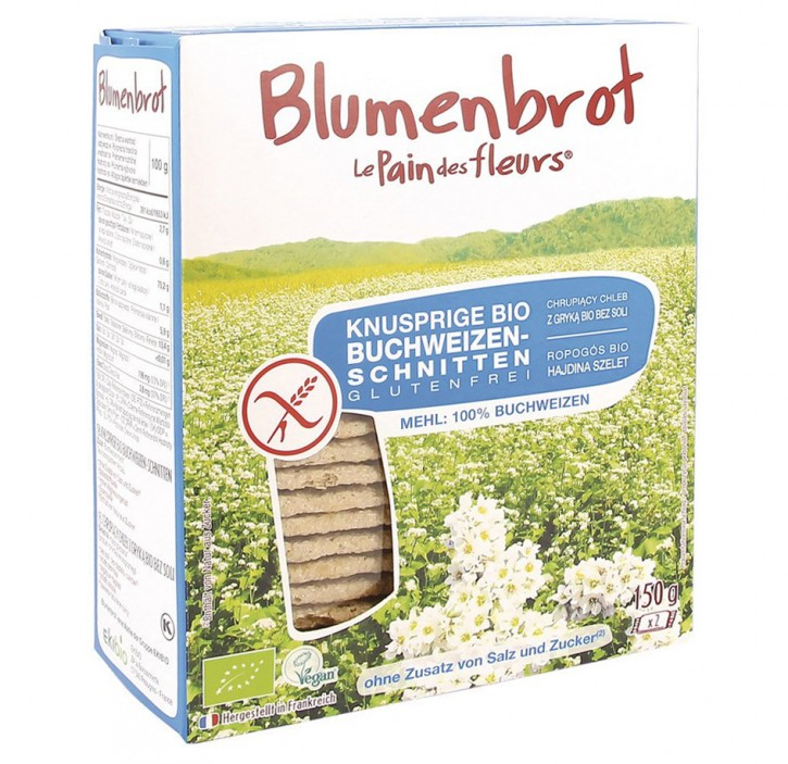 Knusprige Bio Buchweizen Schnitten , 150g Blumenbrot