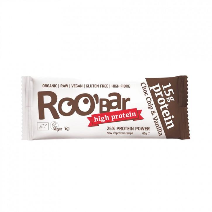 Roobar Protein Choc Chip & Vanilla bio 60g