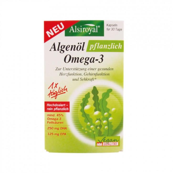 Algenöl pflanzlich OMEGA 3 30Stk. Alsiroyal