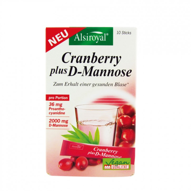 Cranberry plus D-Mannose Alsiroyal 10 Sticks