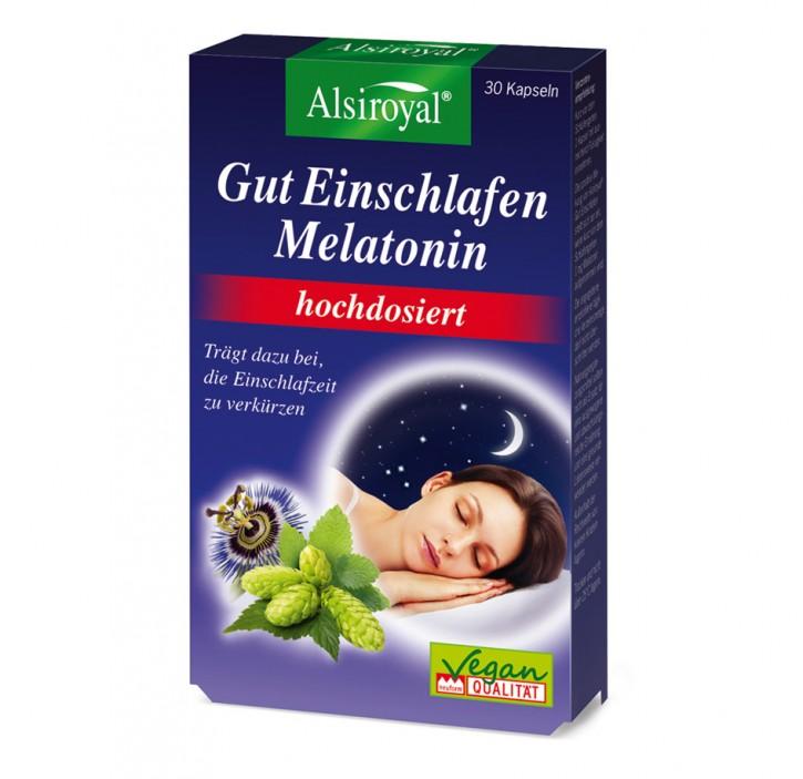 Gut Einschlafen Melatonin hochdosiert Alsiroyal