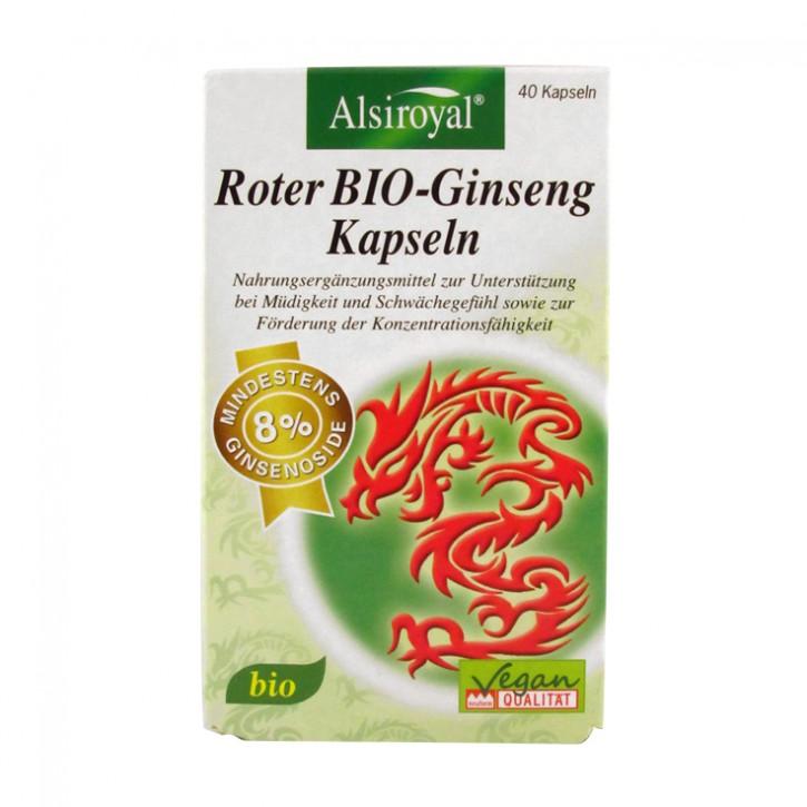 Roter BIO-Ginseng  Kapseln  Alsiroyal  40 Stk.