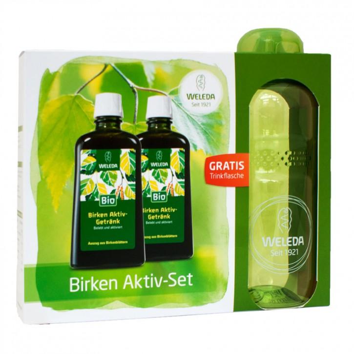 Birken Aktiv Set mit Trinkflasche bio 2x200ml