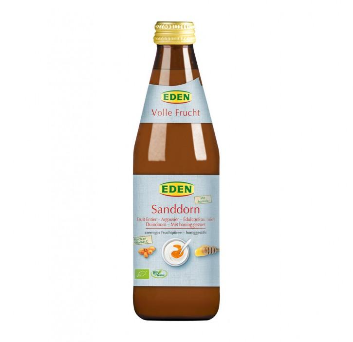 Sanddorn honiggesüßt Volle Frucht bio Eden 330ml