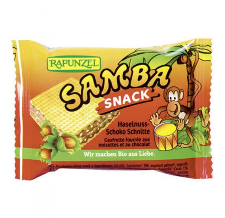 Samba Snack, Haselnuss-Schoko Schnitte bio, 25g