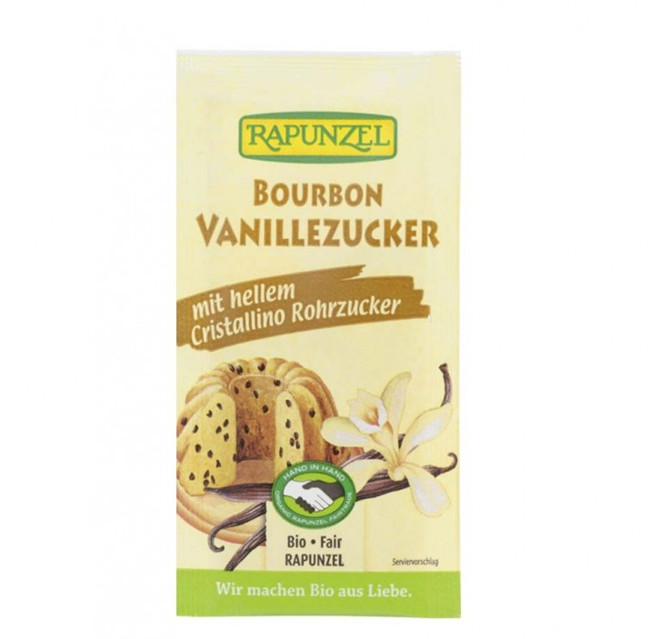 Vanillezucker Bourbon mit Cristallino bio, 4x8g