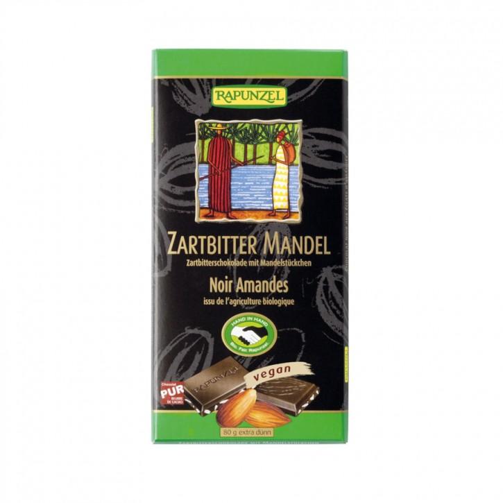 Zartbitter Schokolade mit Mandeln 80g Rapunzel