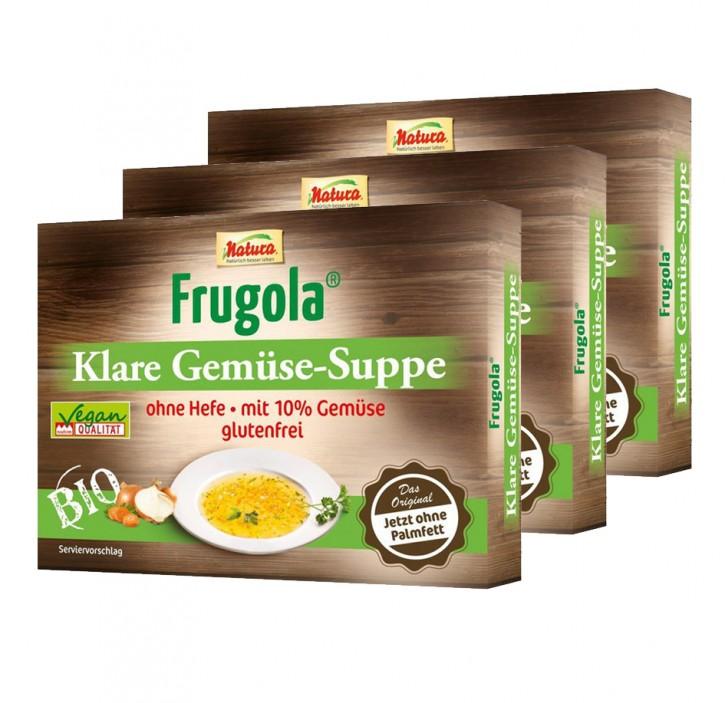 Frugola Bio Klare Gemüse-Suppe ohne Hefe 3 x 6 Würfel á 11g