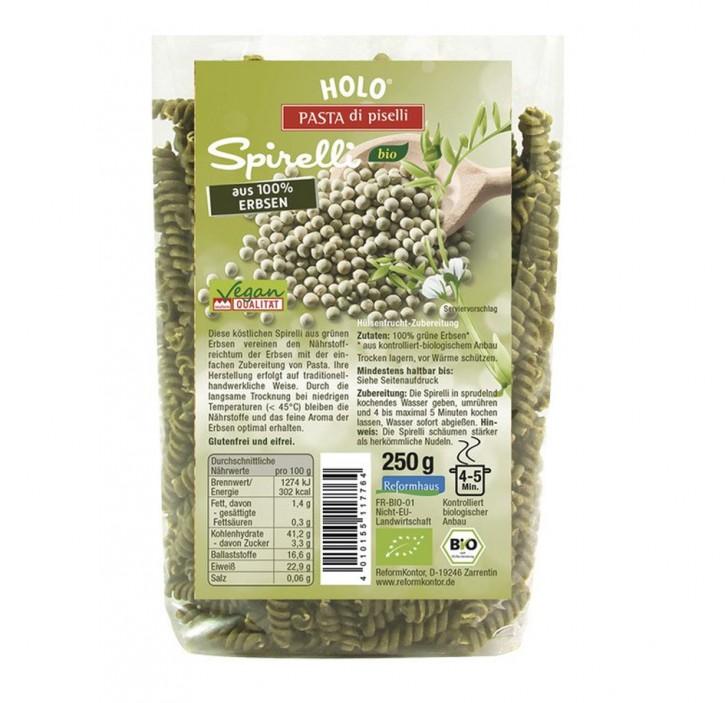 Erbsen-Spirelli, grün bio, 250g