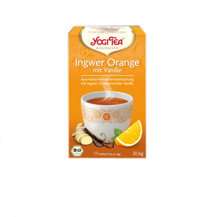 Bio Ingwer Orange mit Vanille 17 Btl. Yogi Tea