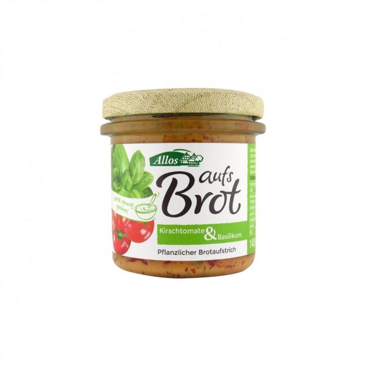 """Bio Aufstrich """"Auf´s Brot"""" Kirschtomate & Basilikum 140g"""