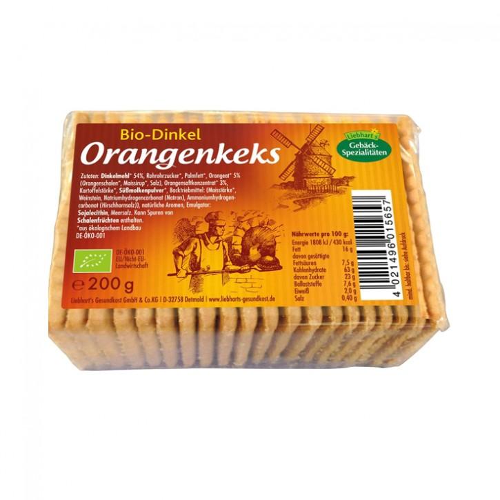 Bio-Dinkel-Orangen-Keks Liebharts  200g