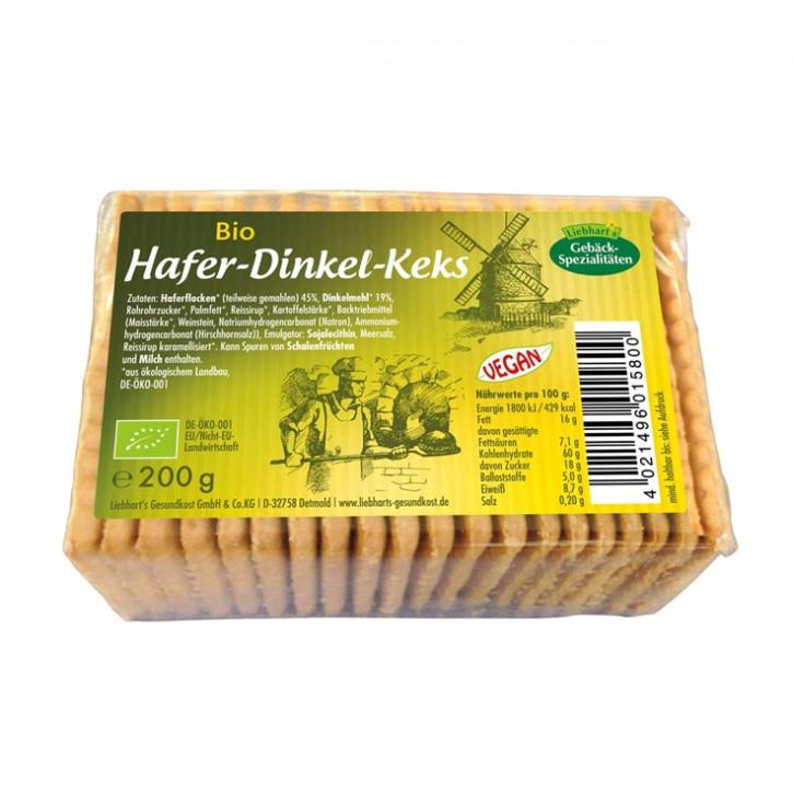 Bio-Hafer-Dinkel-Keks Liebharts 200g