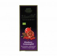 Bio-Himbeer-Granatapfel-Zartbitter-Schokolade Liebharts 100g