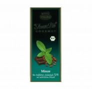 Bio-Minze-Edelbitter-Schokolade, 72% Kakaoanteil Liebhart´s 100g