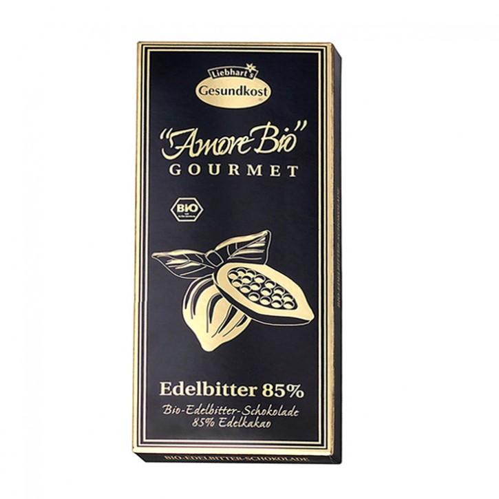 Bio-Edelbitter-Schokolade, 85% Kakaoanteil Liebhart´s 100g