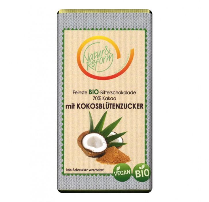 Bio Bitterschokolade Kokosblütenzucker 60g