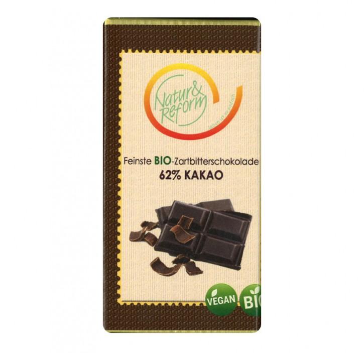 Bio Zartbitterschokolade 62% Kakao 65g