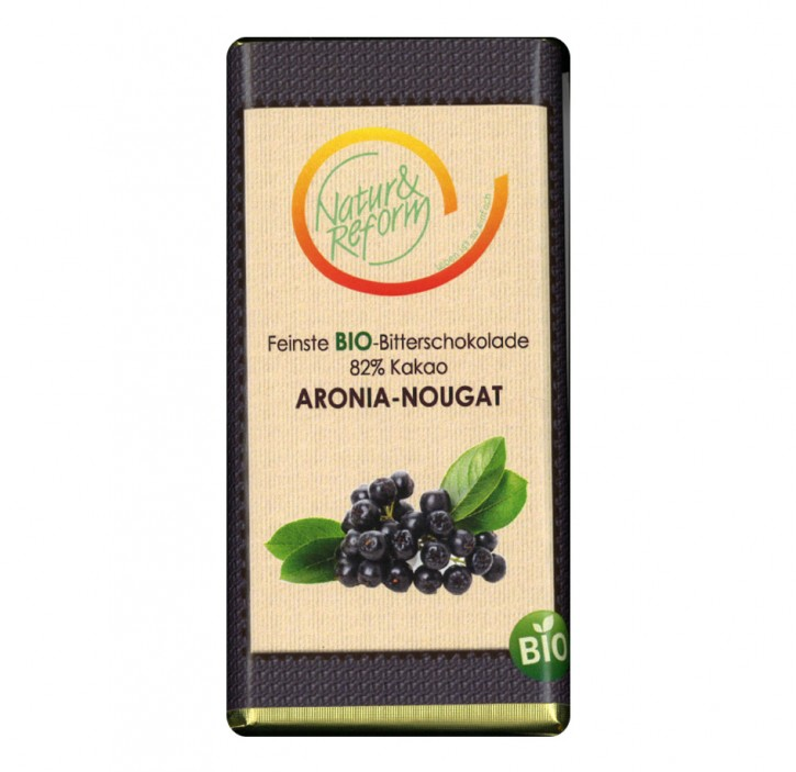 Bio Schokolade mit Aronia Nougat 65g