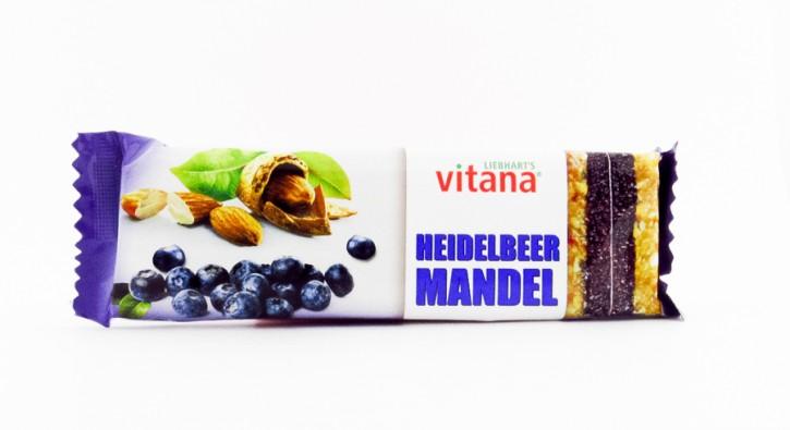 FRUCHTSCHNITTE HEIDELBEER MANDEL bio Vitana 60g