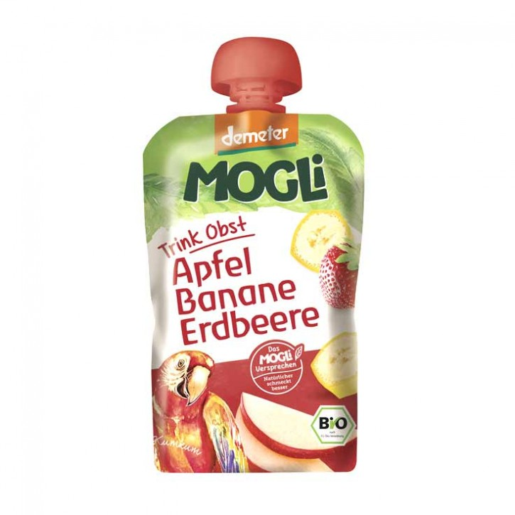 Mogli Moothie Apfel Banane Erdbeere 100g