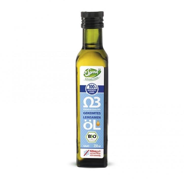 Leinöl aus gekeimten Bio Leinsamen  250ml