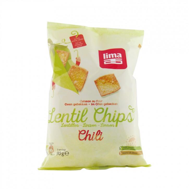 Linsen Chips Chili bio 90g Lima