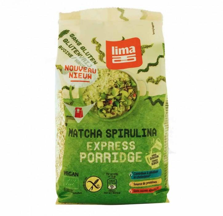 Matcha Spirulina Express Haferflocken 350g  glutenfrei