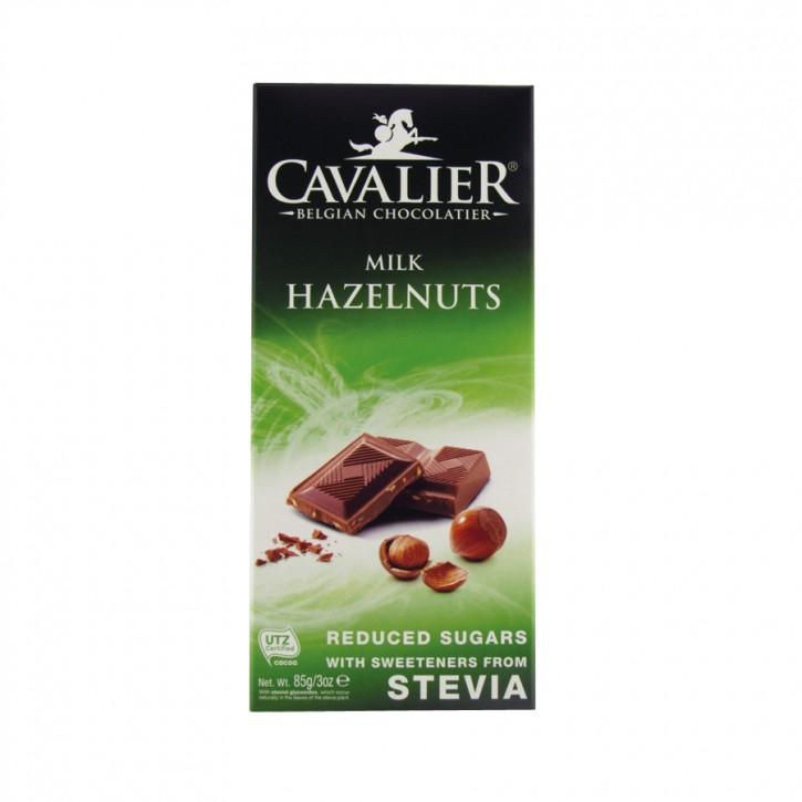 Stevia Haselnuss Milchschokolade 85g cavalier