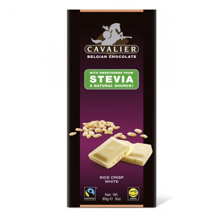 Stevia Weiße Schokolade Rice Crisp  85g