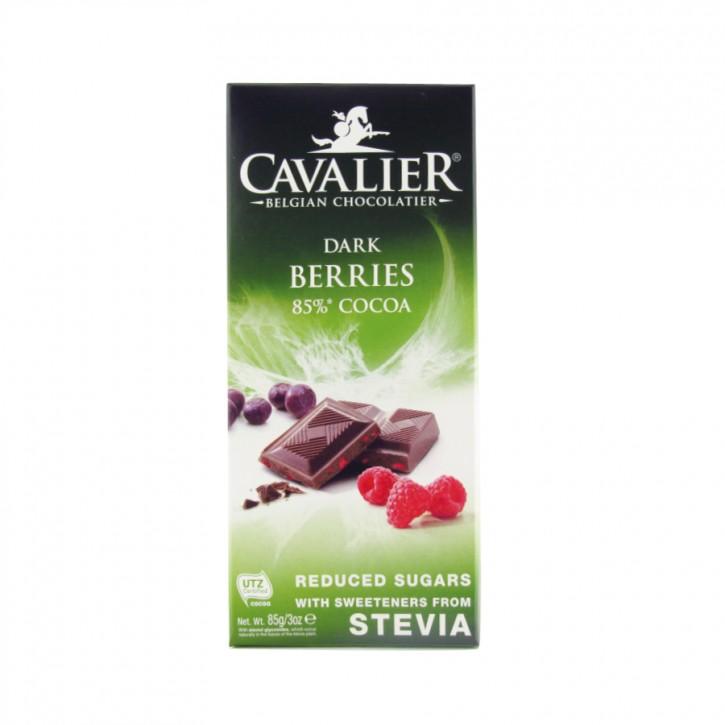 Stevia Schokolade extra mit Beeren 85g Cavalier