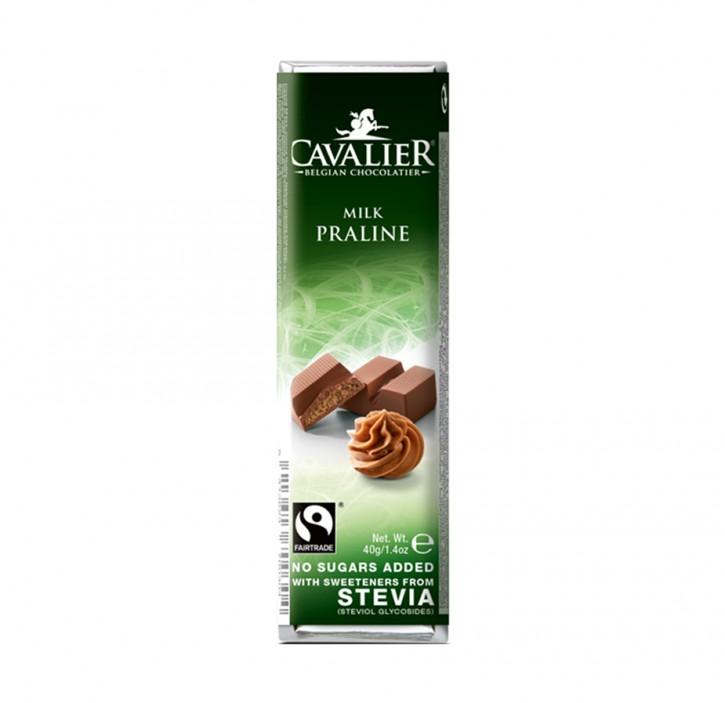 Stevia Schokoriegel Pralinè 40g Cavalier