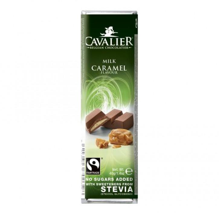 Stevia Schokoriegel mit Caramell 40g Cavalier