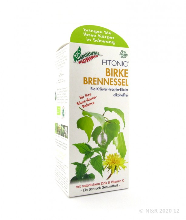 Fitonic BIRKE BRENNESSEL Kräuter-Früchte-Elixier bio Florian Natur 330ml