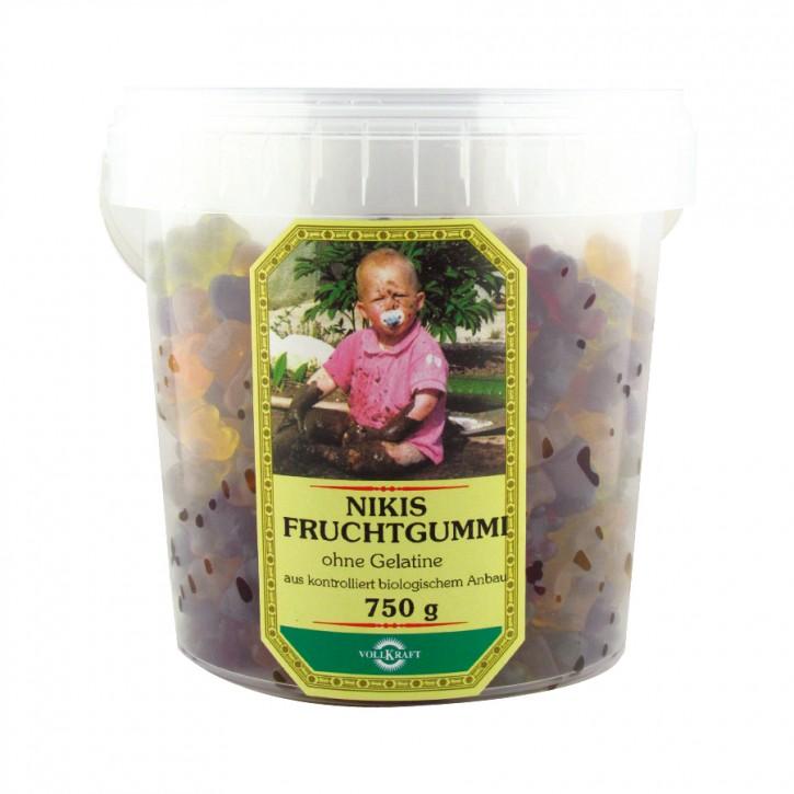 Nikis Fruchtgummi ohne Gelatine Bio Box 750g Vollkraft