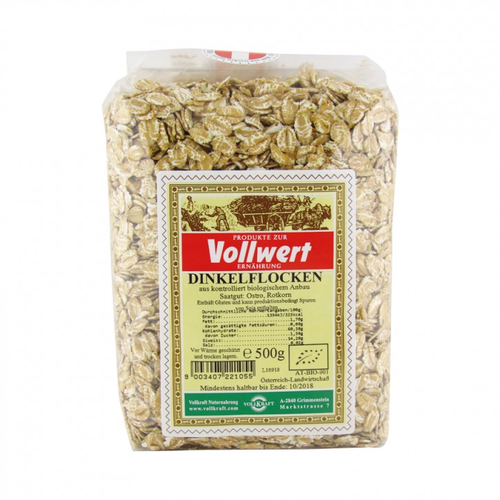Bio Dinkelflocken 500g Vollkraft
