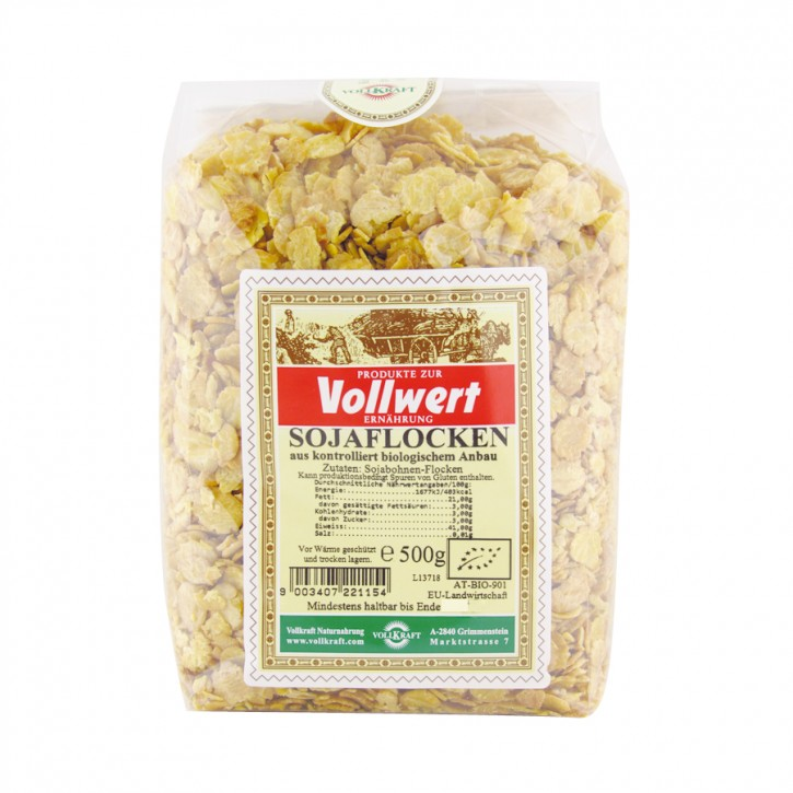 Bio Sojaflocken 500g Vollkraft