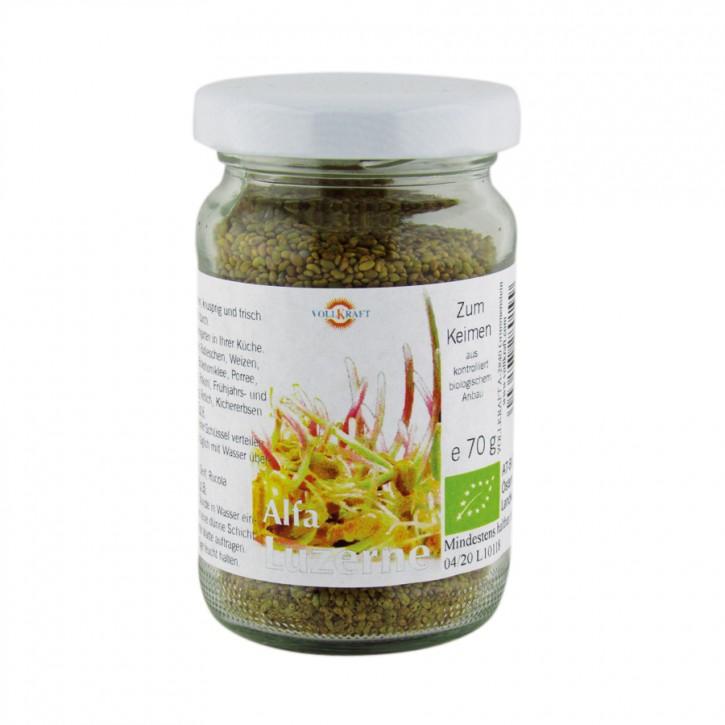 Bio Saatgut Alfalfa Luzerne 70g Vollkraft