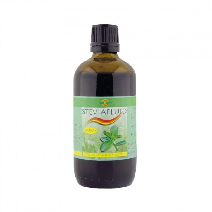 Stevia Fluid braun aus Blättern 100ml Vollkraft