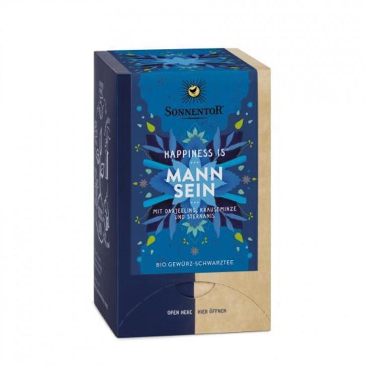 """Mann sein """"Happiness is"""" Bio Tee 18 Stk. Sonnentor"""