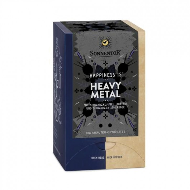 Heavy Metal Tee Happiness is bio 27g 18 Stk, Sonnentor