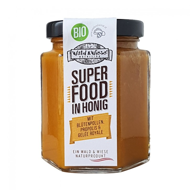 Bio Superfood i. Honig mit Blütenpollen, Propolis und Gelee R. 250g IBZ