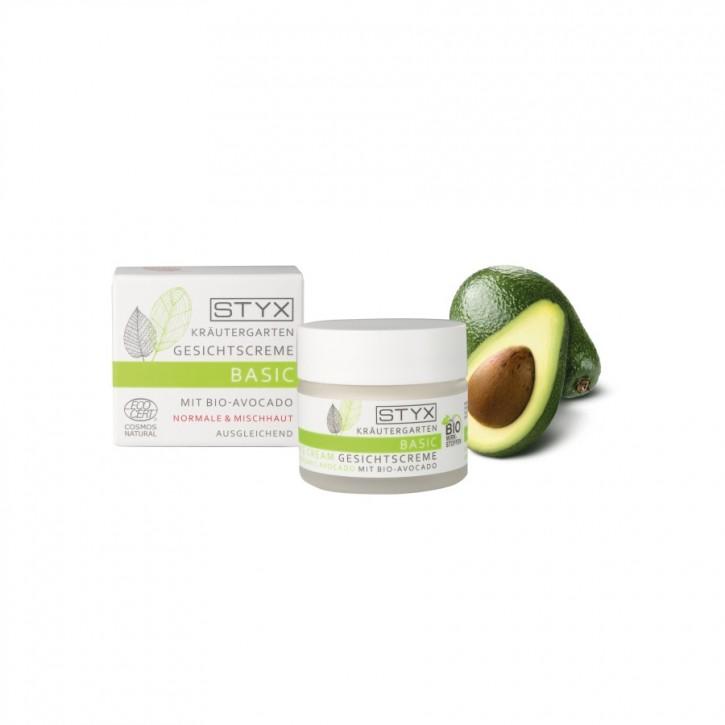 Kräutergarten Gesichtscreme mit Bio Avocado 50ml Styx
