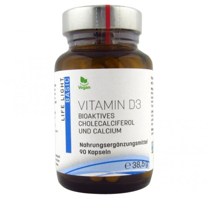 Vitamin D3 vegan, 90 Kapseln Life Light