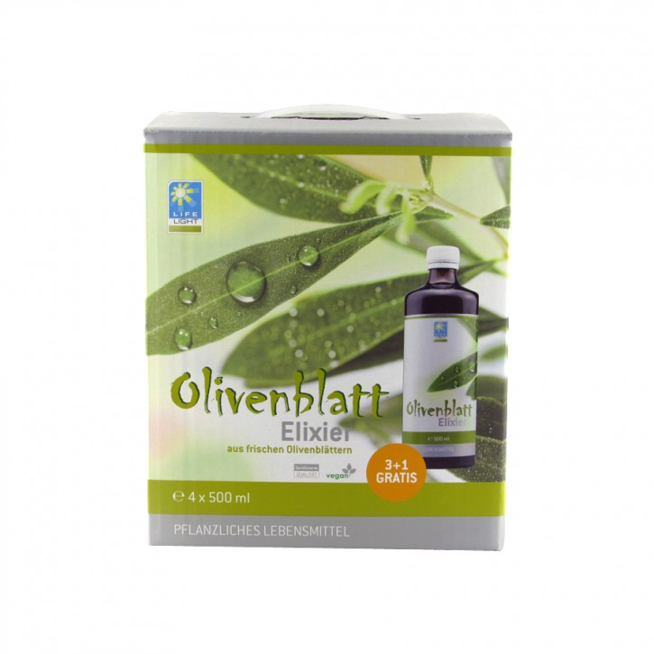 Olivenblatt Elixier  4x500ml, 3+1 gratis
