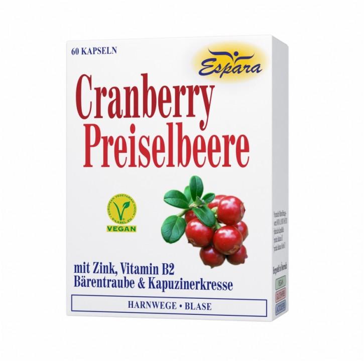 Cranberry-Preiselbeere Kapseln Espara 60Stk