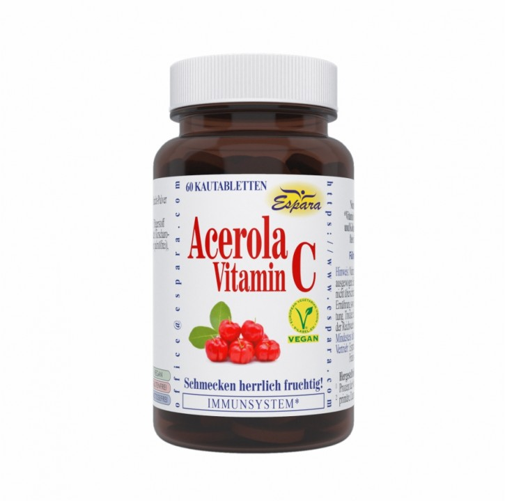 Acerola-Vitamin C Kautabletten Espara 80Stk