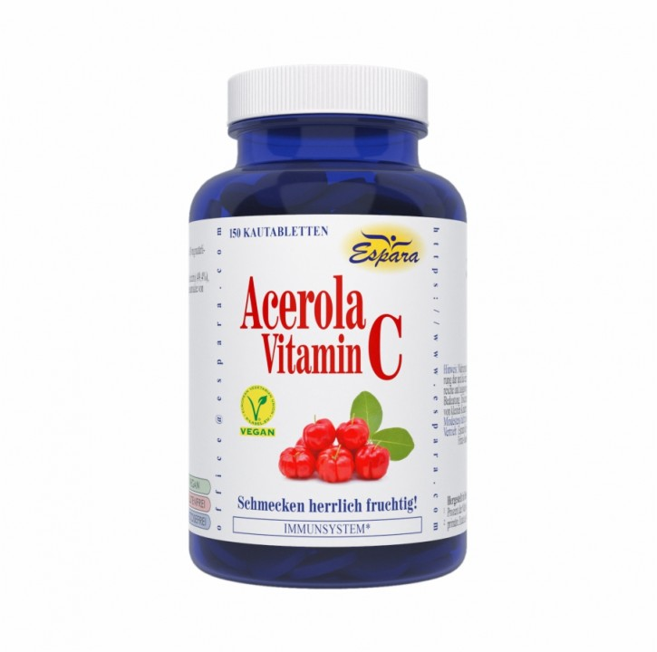 Acerola-Vitamin C Kautabletten Espara 150Stk
