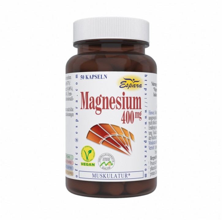 Magnesium-400 mg Kapseln Espara 50Stk