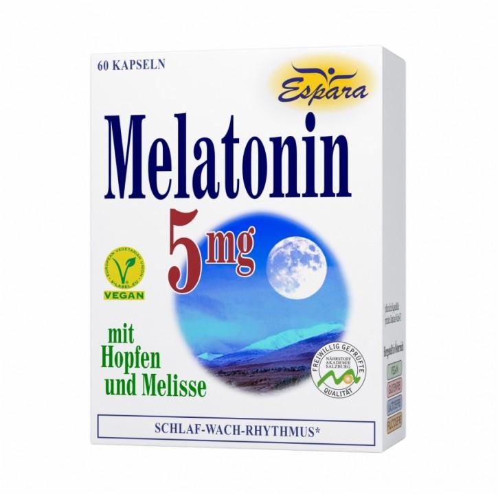 Melatonin 5 mg Kapseln Espara 60Stk